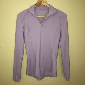 LILY PULITZER ATHLETIC LILAC 1/4 ZIP PULLOVER